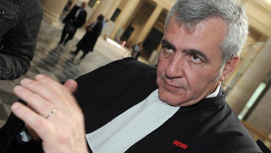 Thierry Herzog, l'avocat de Nicolas Sarkozy, le 25 avril 2013 au palais de justice de Bordeaux