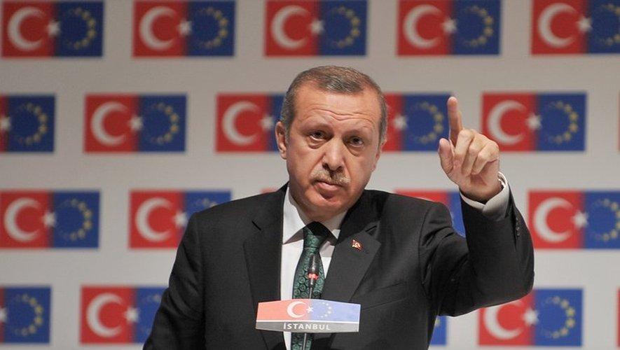 Le Premier ministre turc Recep Tayyip Erdogan, le 7 juin 2013 à Istanbul