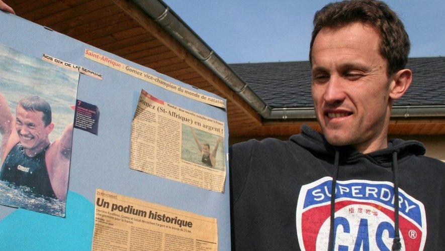Stéphane Gomez chez lui en Aveyron.