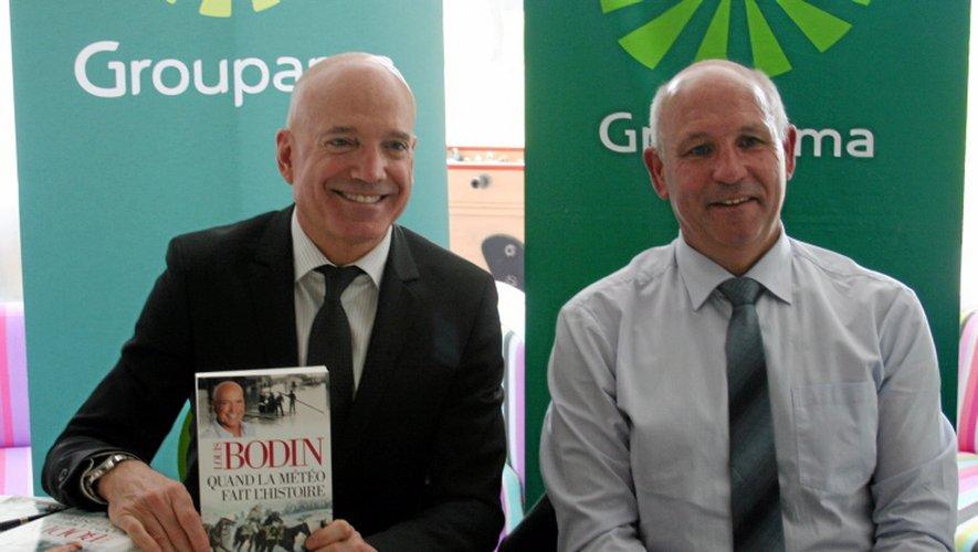 Didier Laluet, le président de la fédération Groupama Aveyron et Lozére aux côtés de Louis Bodin.