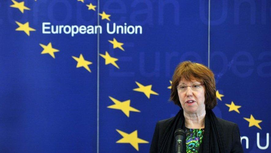 La chef de la diplomatie européenne, Catherine Ashton, le 18 avril 2013 à Sarajevo