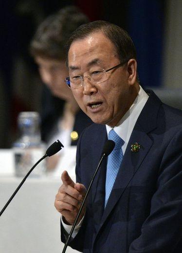 Le secrétaire général de l'ONU, Ban Ki-moon, le 1er juin 2013 à Yokohama au Japon