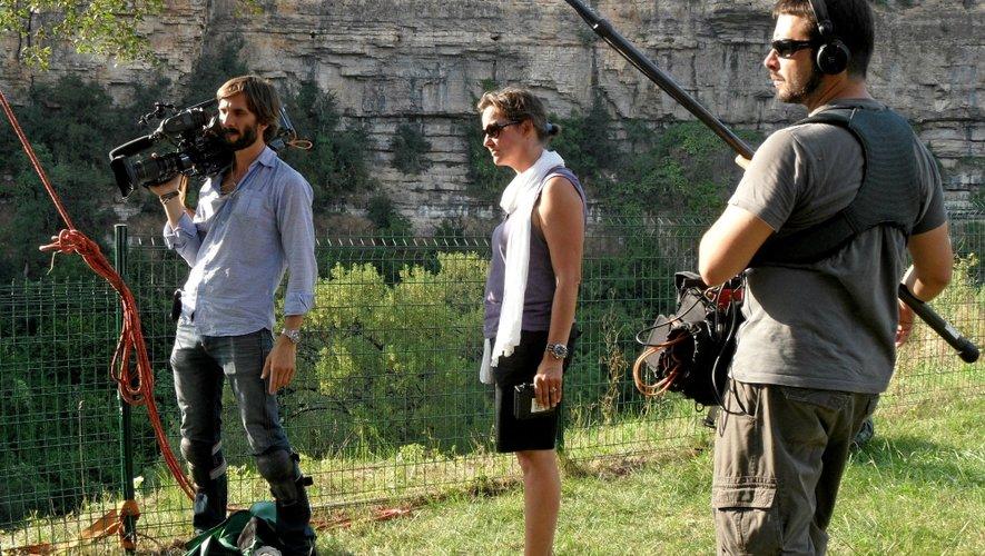 L'équipe de tournage au cours de l'été 2013, ici à Bozouls.