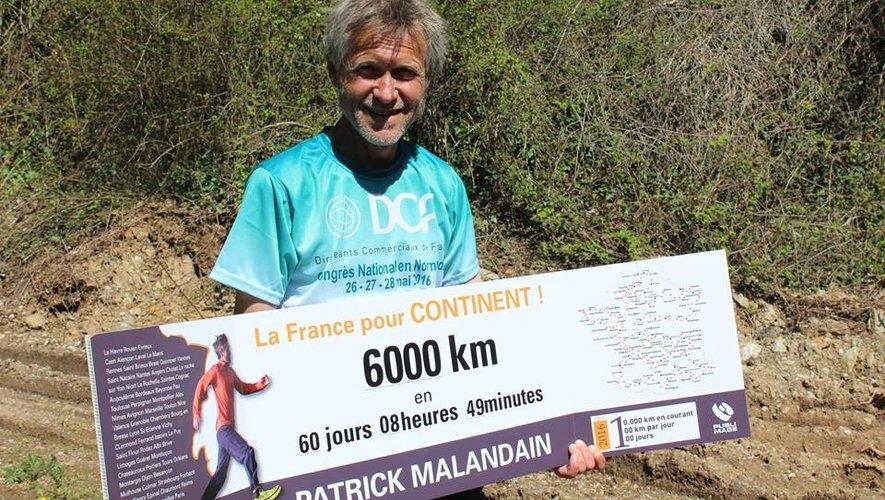 Le coureur fou aux 10 000 km, Patrick Malandain, arrive à Rodez ce lundi