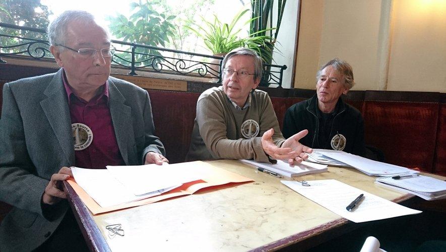 Yves Garric, Bernard Gauvin et Hervé Pascouet, membres du collectif.