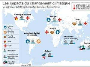 Climat: les gouvernements sommés d'agir après le nouvel avertissement du Giec