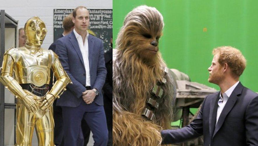 Star Wars 8 : William, Harry et Chewbacca dans les studios de Londres