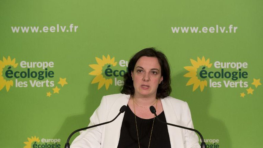 La secrétaire nationale des Verts, Emmanuelle Cosse, à Paris le 23 mars 2014