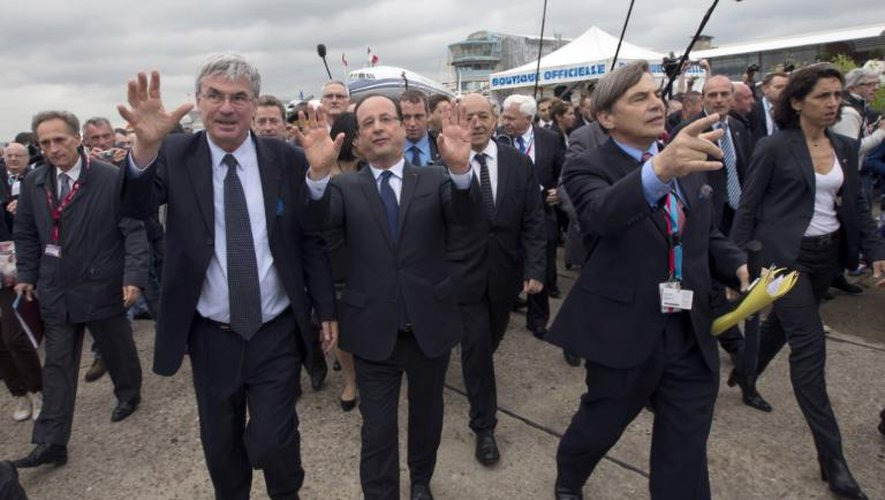 François Hollande, le 21 juin 2013, au salon du Bourget