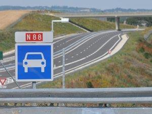 Circulation modifiée sur la RN88 entre La Baraque Saint-Jean et Naucelle