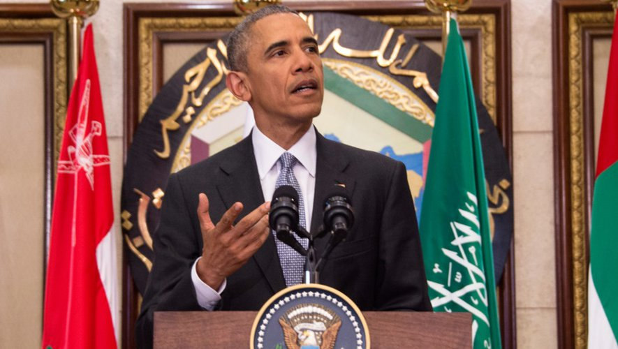 Le président américain Barack Obama à Ryad, le 21 avril 2016, en Arabie saoudite