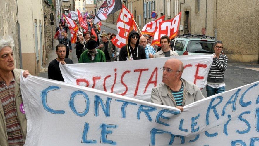 Une centaine manifestants réunis à Millau contre le fascisme