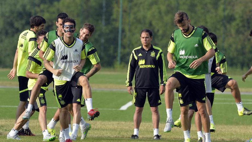 Les Espagnols à l'entraînement, le 13 juin 2015 à Minsk