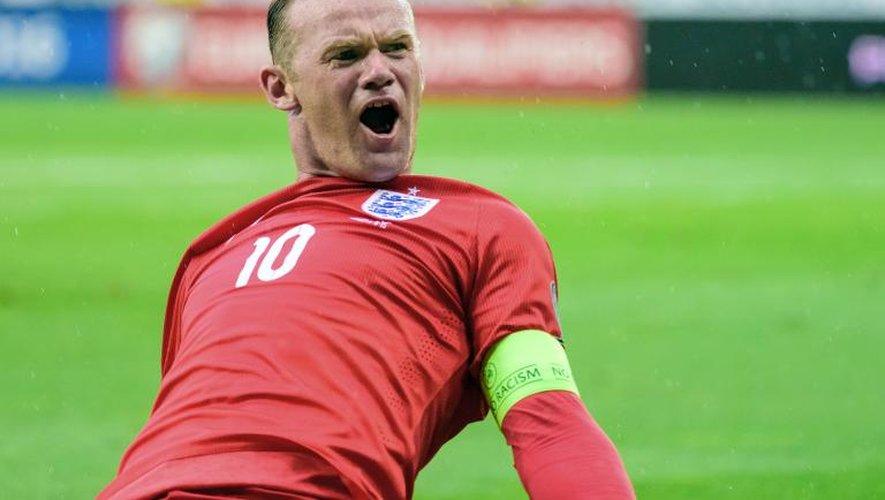Wayne Rooney après avoir donné la victoire à l'Angleterre face à la Slovénie, le 14 juin 2015 à Ljubljana