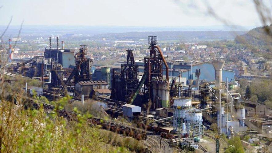 Les hauts fourneaux d'ArcelorMittal à Florange à l'arrêt, le 24 avril 2013