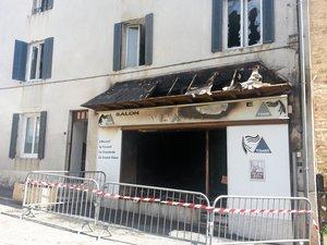 Laissac : un salon de coiffure détruit par un incendie