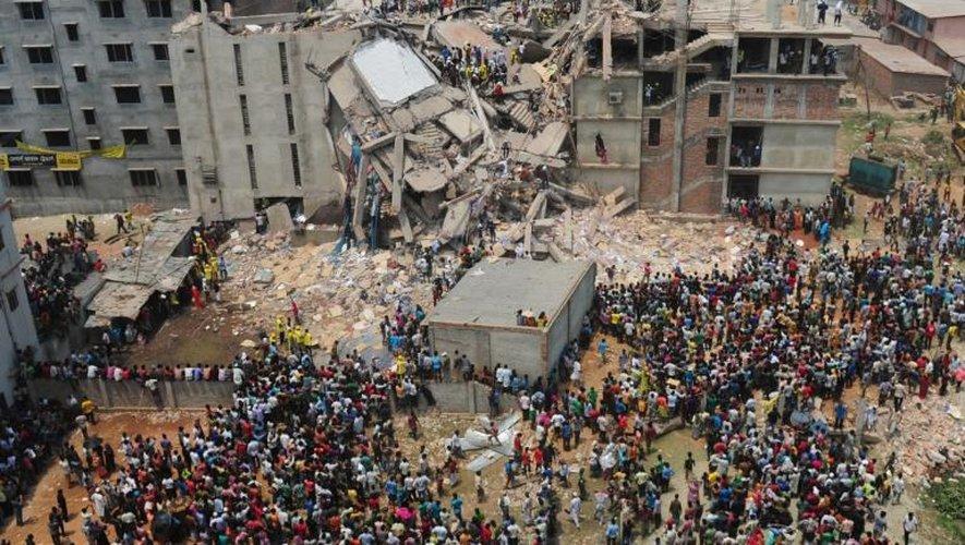 Un immeuble effondré à Savar, en avril 2013