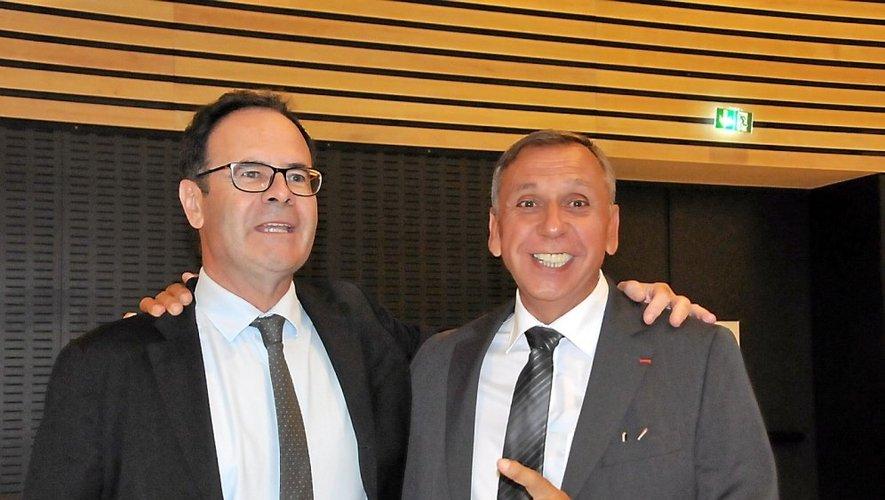 Jean-Claude Luche et Alain Marc, lors de leur élection.