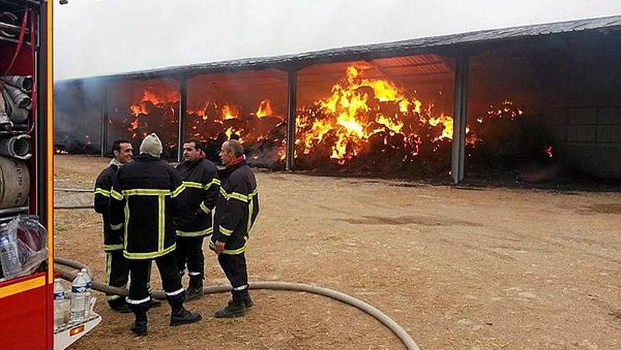 Le feu avait été particulièrement spectaculaire à Gages.