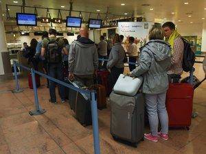 Le hall des départs de l'aéroport de Bruxelles partiellement rouvert