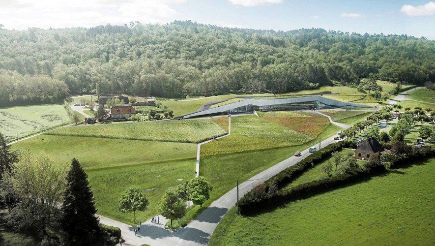 Le futur Centre international d'art pariétal Lascaux 4 joue à fond l'intégration paysagère.