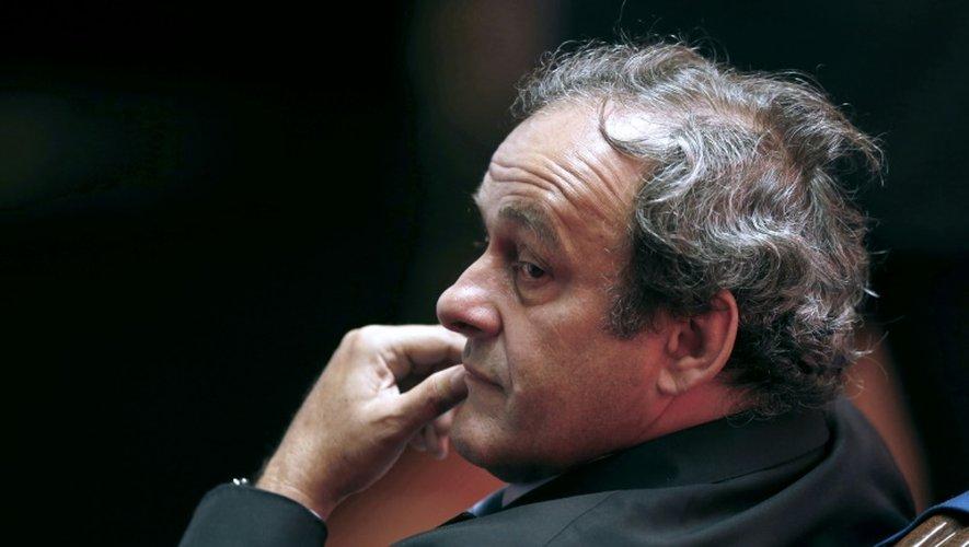 Michel Platini à Monaco le 28 août 2015