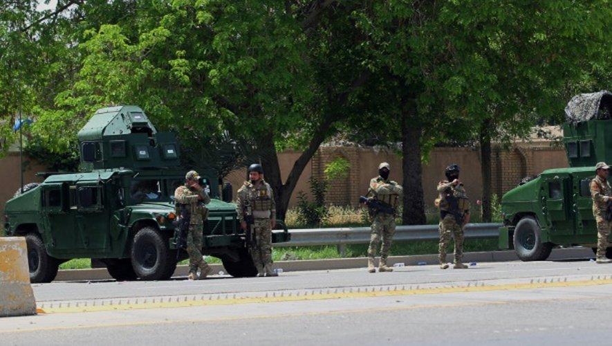 Les forces de sécurité irakiennes à Bagdad, le 1er mai 2016