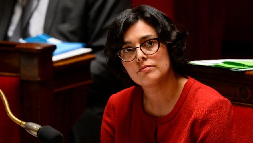 La ministre du travail Myriam El-Khomri lors de débats sur la loi travail à l'assemblée le 4 mai 2016