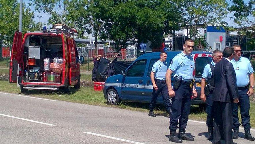 Cordon de sécurité autour de la zone où a été trouvée la tête décapitée