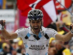 Tour de France: le Français Riblon vainqueur à l'Alpe d'Huez