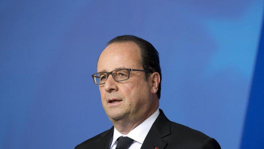Le président François Hollande donne une conférence de presse depuis Bruxelles, consacrée à l'attentat en Isère