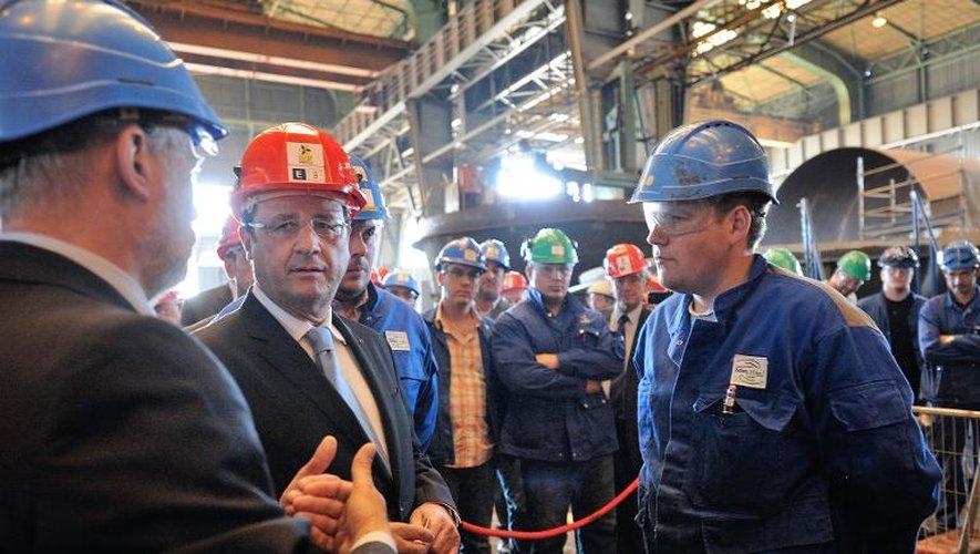 François Hollande en visite le 23 juillet 2013 à la CMP Dunkerque