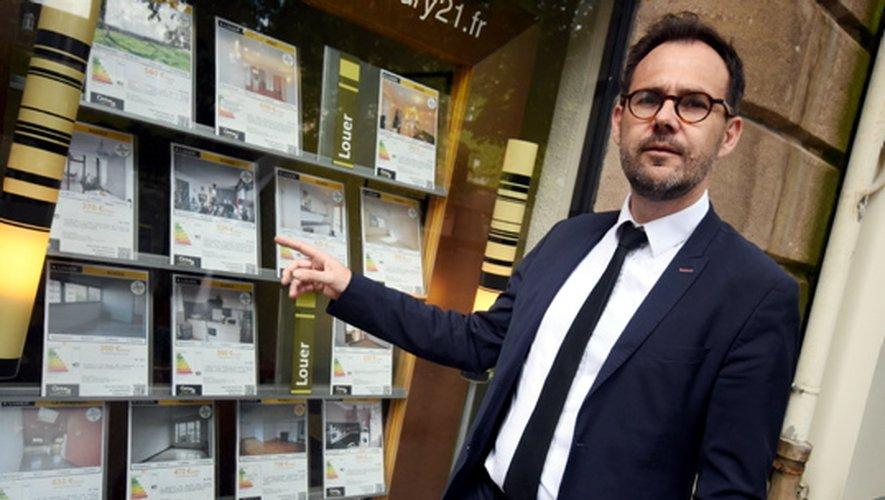 Nicolas Sounillac, président départemental de la Fnaim. Sur le Grand Rodez, qui capte une grande partie du marché immobilier aveyronnais, 20 % des transactions concernent des logements neufs.