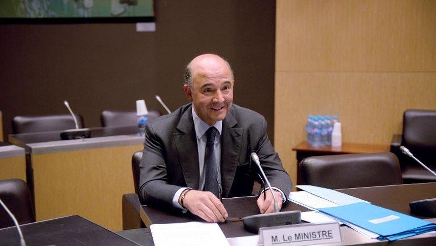 Pierre Moscovici lors de son audition le 16 juillet 2013 par la commission d'enquête parlementaire à Paris