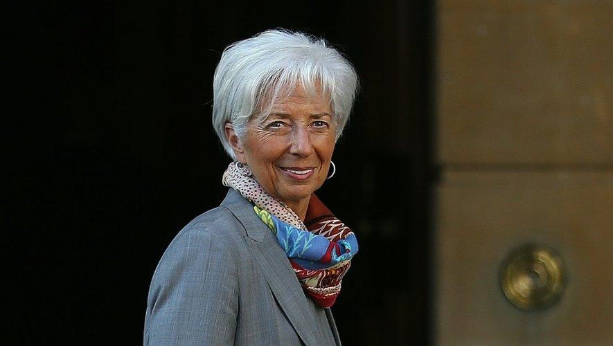 La directrice générale du FMI Christine Lagarde à Londres le 12 mai 2016