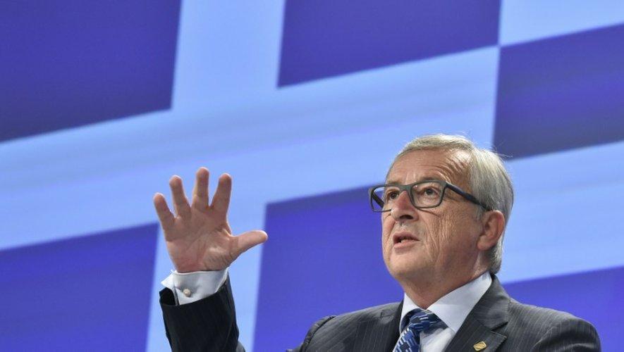 Le président de la Commission européenne Jean-Claude Juncker donne une conférence de presse consacrée à la situation grecque le 29 juin 2015 à Bruxelles