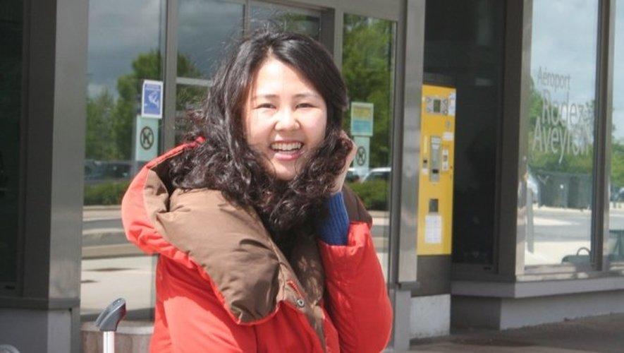 Malgré la déception, Gahee Park gardait le sourire, hier, avant de s'envoler pour sa Corée natale.