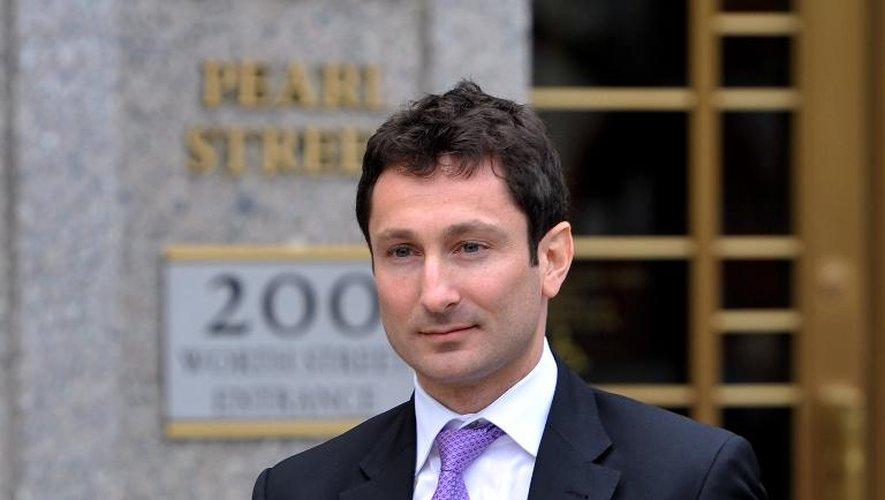 """Fabrice Tourre, l'ex-courtier de Goldman Sachs surnommé """"Fab le fabuleux"""", le 24 juillet 2013 à New York"""