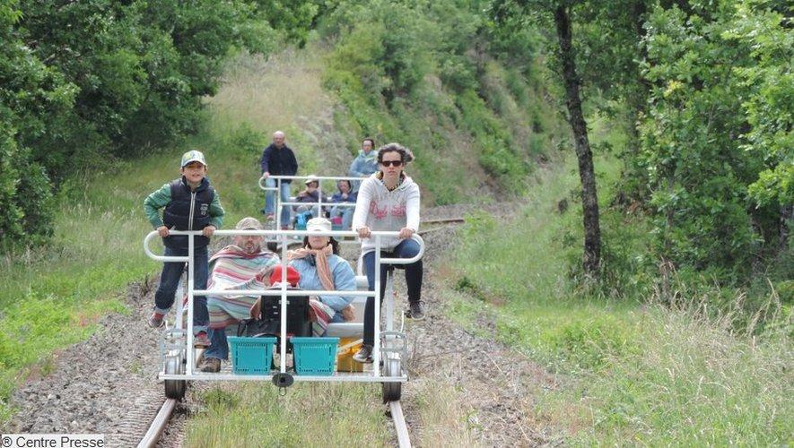 Sud-Aveyron: le vélorail pour une balade au grand air