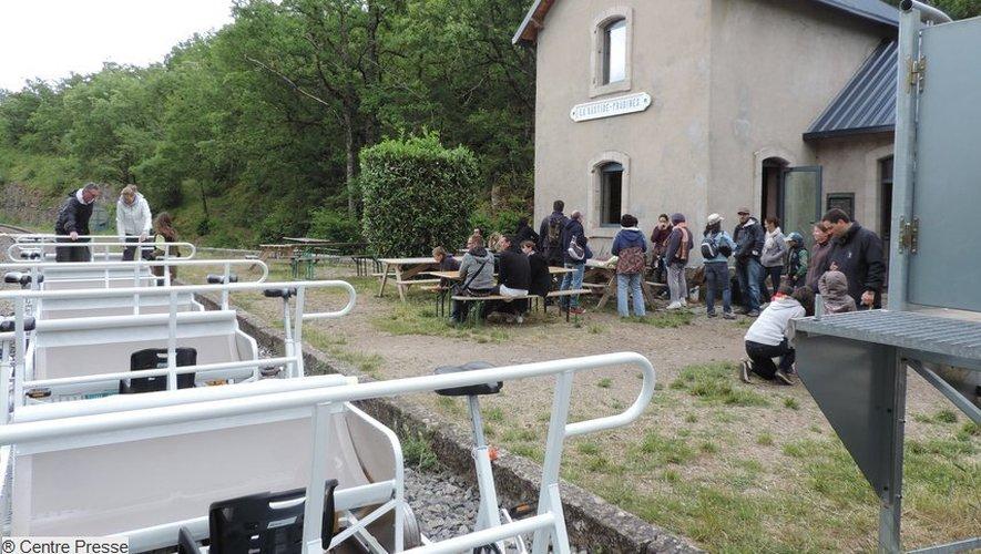 """L'arrivée du parcours """"Orchidée"""" se fait en gare de La Bastide-Pradines."""