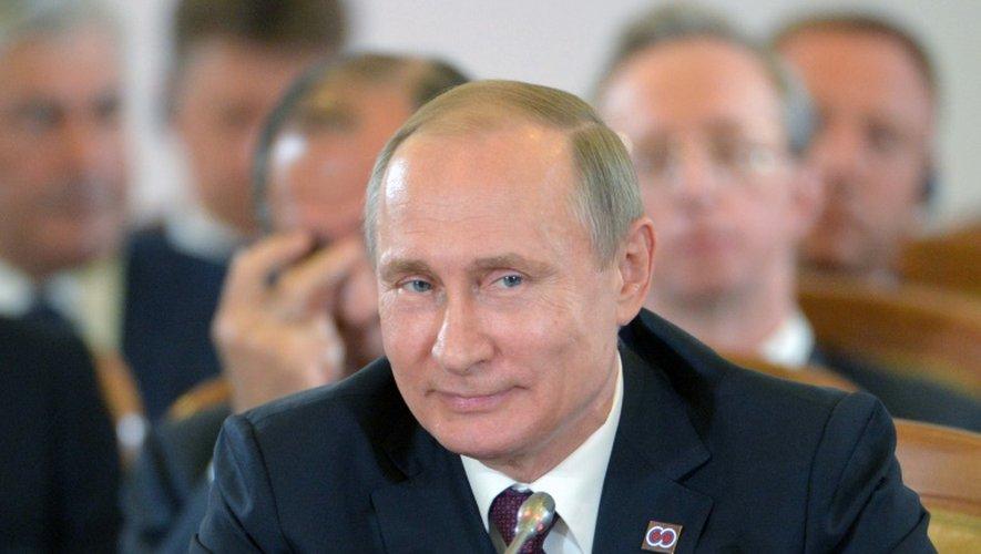 Le président russe Vladimir Poutine à Sotchi en Russie, le 20 mai 2016