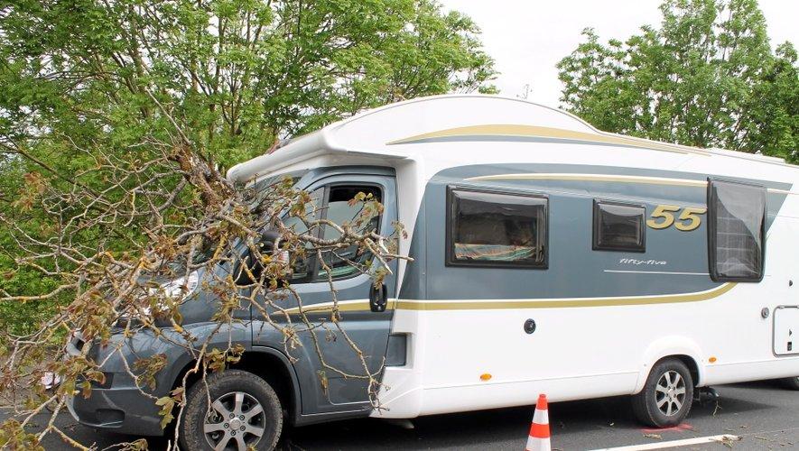 L'arbre est tombé sur le camping-car, causant le décès du passager.