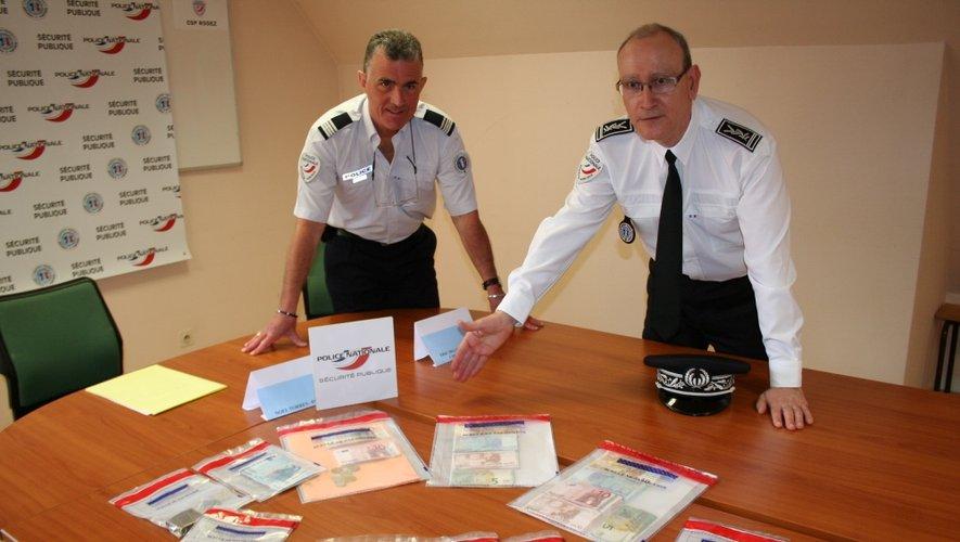 Ce matin, le Directeur départemental de la  sécurité publique, Noël Torrès, au côté du commandant de police de Millau, Eric Delchambre, a souligné l'importance du trafic.