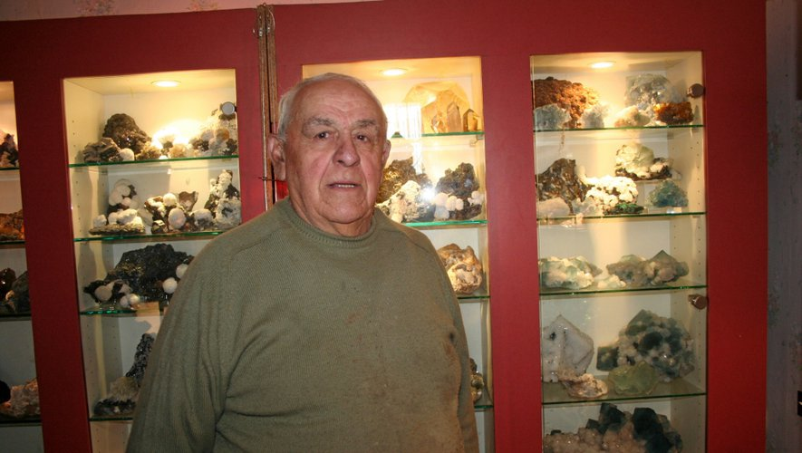 Guy Majoulet collectionne les pierres semi-précieuses depuis près de 45 ans.