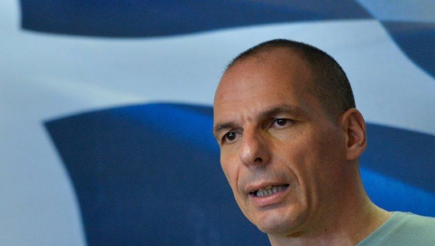 Le ministre des Finances grec lors de son allocution à Athènes dimanche