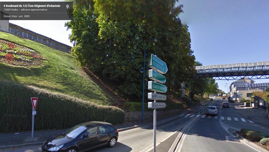 Le giratoire, selon Google Maps...
