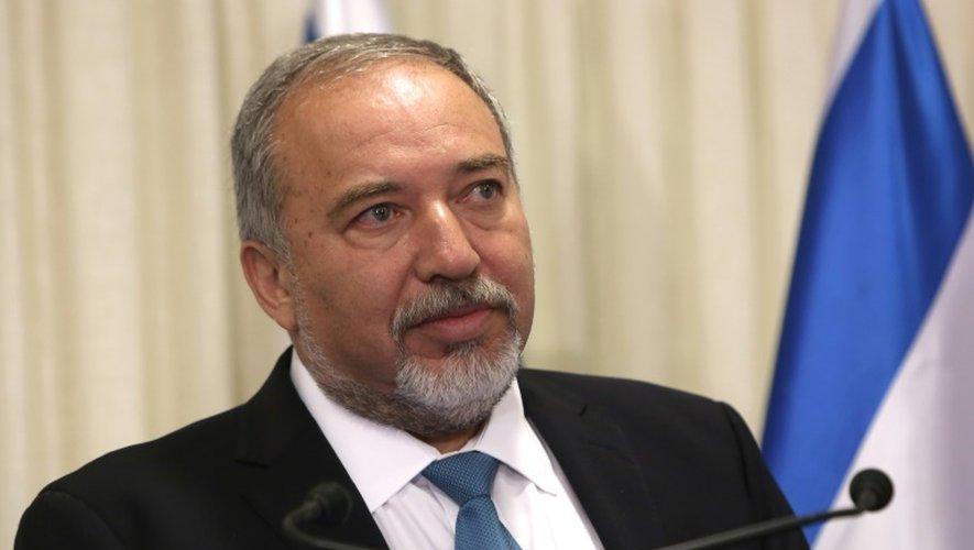 Avigdor Lieberman, leader ultranationaliste, à Jérusalem le 25 mai 2016