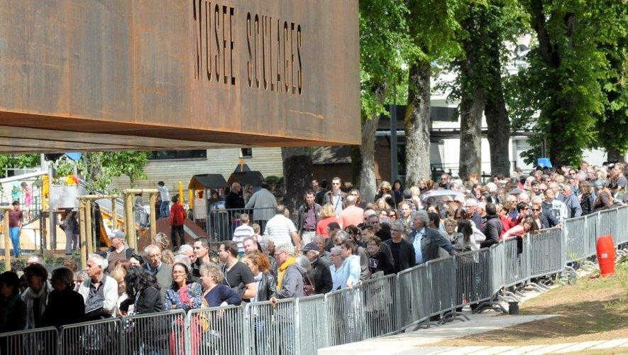 Enorme succès populaire pour les premiers pas du musée ruthénois.