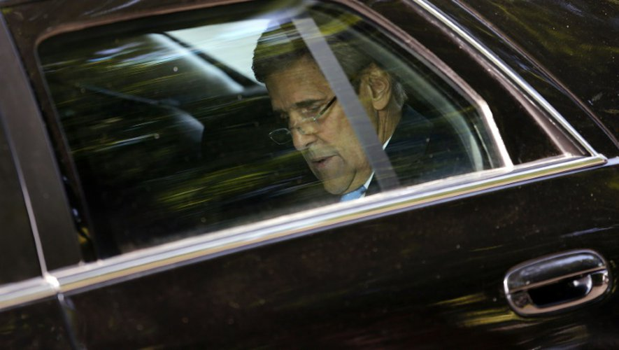 Le Secrétaire d'Etat John Kerry le 12 juillet 2015 à Vienne
