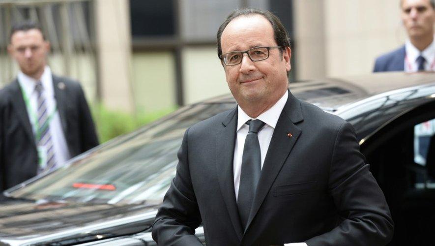 Le président François Hollande le 12 juillet 2015 à Bruxelles